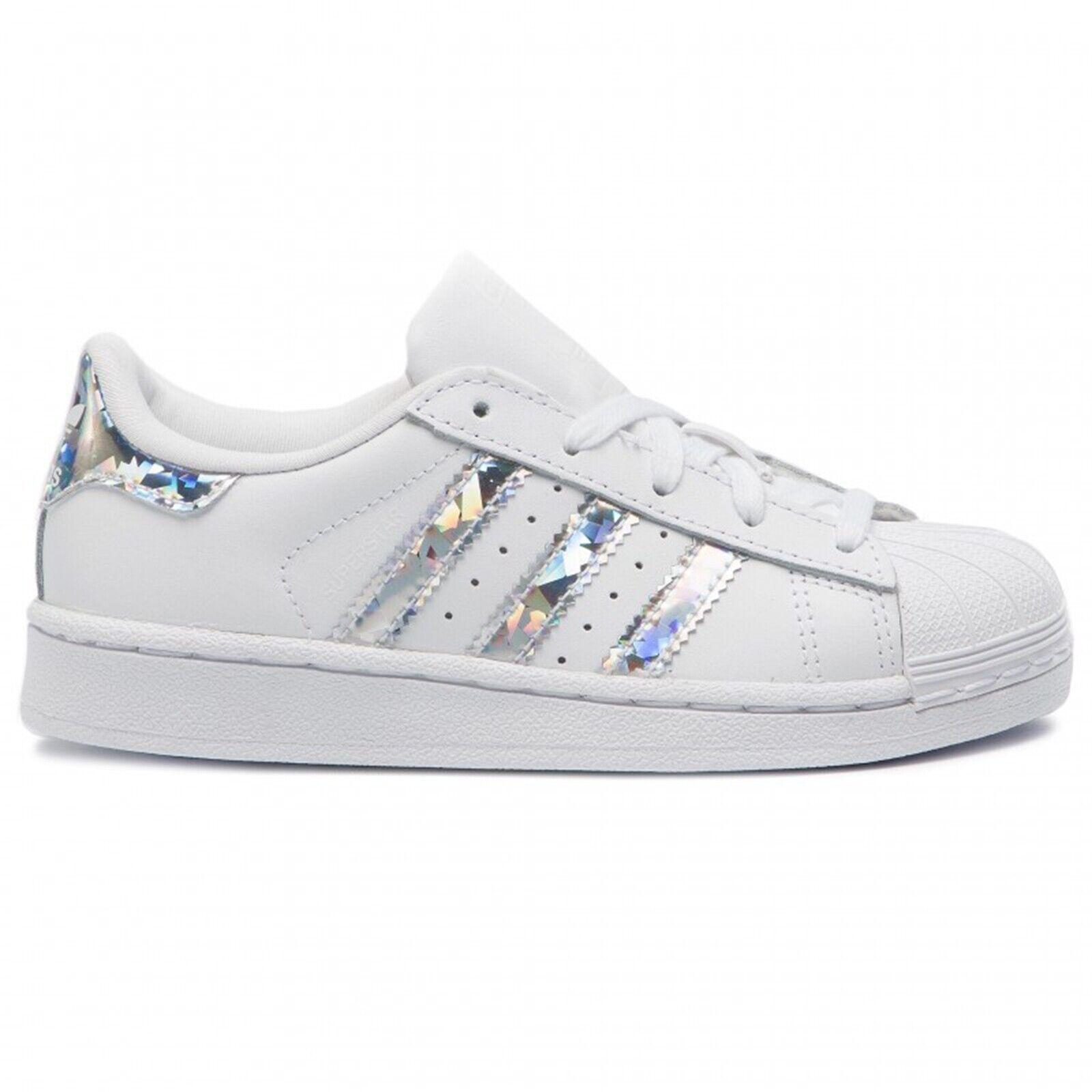 Adidas Superestrella C blancoo Plata Iridescent Zapatillas Niña Cg6708