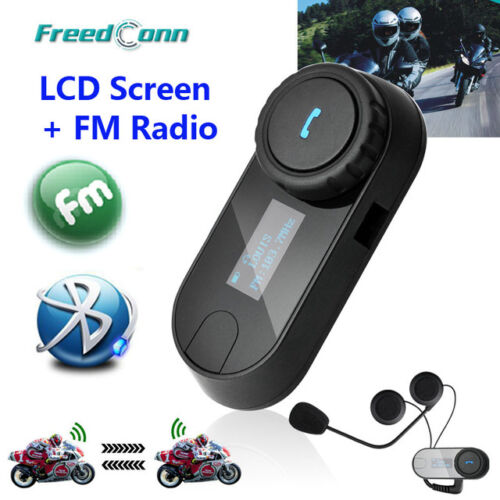 TCOM-SC W//Screen Bluetooth Motorcycle Motorbike Helmet 800M FM Intercom Headset