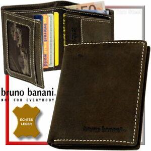 BRUNO-BANANI-kleine-Hochformat-Geldboerse-Geldbeutel-Boerse-Portemonnaie-Purse
