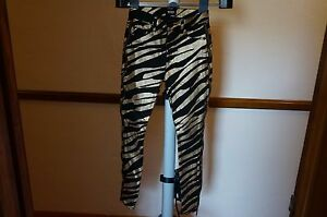HUDSON-NEW-Womens-Nico-Gold-Metallic-Coated-Skinny-Zippers-Jeans-26-WHA4117DIJ