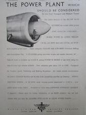 3/1946 PUB ALVIS AERO ENGINES LEONIDES AIR COOLED RADIAL ENGINE ORIGINAL AD