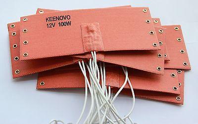 KEENOVO Silicone Heat Pad/Mat,WVO Fuel Filter Heater,12V 100W w/ thermostat 65C