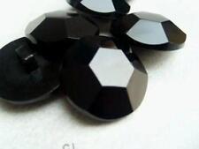 B942-15mm- 10pcs LITTLE BLACK SHAPED DIAMOND EFFECT BABY PLASTIC BUTTONS