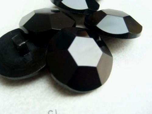 10pcs LITTLE BLACK SHAPED DIAMOND EFFECT BABY PLASTIC EYES BUTTONS B942-15mm