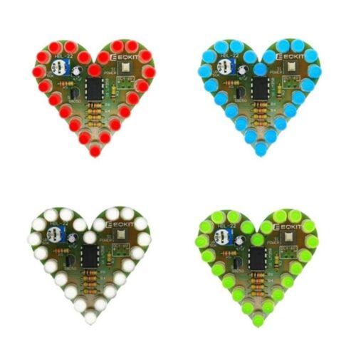 DC 4V-6V DIY Kits Circuit Board Heart Shape Electronic Breathing Lamp LED CA