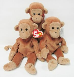 c2481e6a889 Image is loading Ty-Beanie-Baby-Bongo-the-Monkey-4th-Gen-