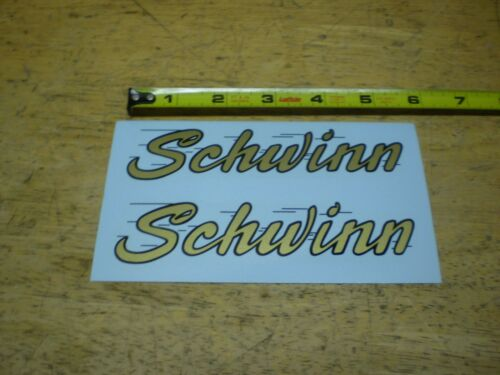 Aprovado Schwinn Preto E Dourado mais tarde decalques Tanque De Chifre De Bicicleta 1958 Deluxe Hornet
