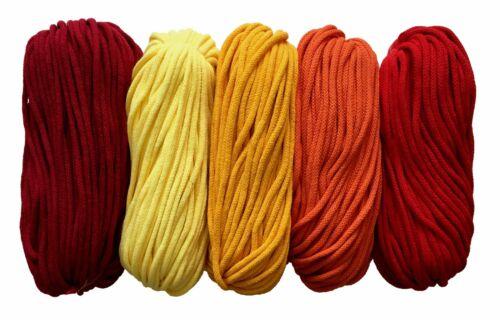 cotton yarn 5mm cord rope zpaghetti zpagetti crochet knitting macrame 50m 100m