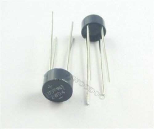 50Pcs 2W04 2A 400V Bridge Rectifier Sep nv