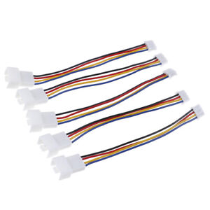 2Pcs-Universal-pequeno-4-pines-a-3-pines-ventilador-PWM-conector-cable-extension