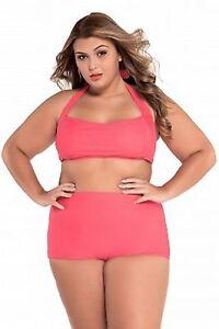 a578b32eed8 Image is loading Women-Bikini-High-Waist-Curvy-Plus-Size-Swimwear