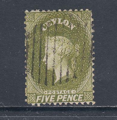 Ceylon Sc 52, SG 54b used 1963 5p QV, split wmk 1a perf 12½