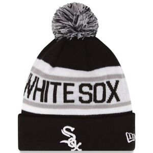 New Era MLB Chicago White Sox Biggest Fan Cuffed Pam Knit Beanie Hat ... 3d6c3705605