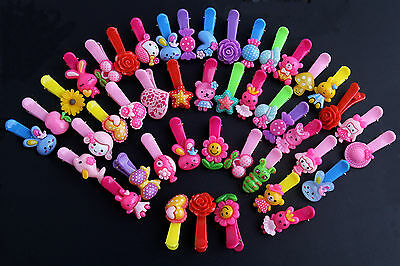 10pcs Mixed Fashion Duckbill Clip with Lovely Charms Baby and Girls' Hair Clips