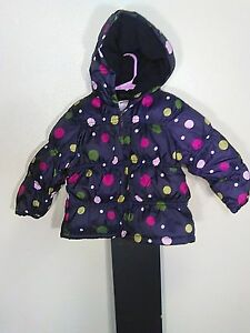 aab13f9bd Gymboree 2 3T Girls Puff Winter Snow Coat Jacket With Hood