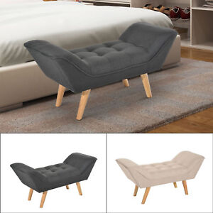 Image Is Loading Chaise Longue End Bed Seat Sofa Bench Retro