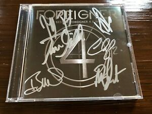 SIGNED-Autographed-Best-of-Foreigner-4-amp-More-CD-2014-6-signatures-Mick-Jones