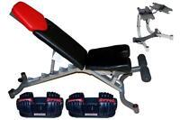 Bowflex 1090 Or 55s Set: Pair Of Dumbbells +bowflex Stand + Bowflex 3.1 Bench