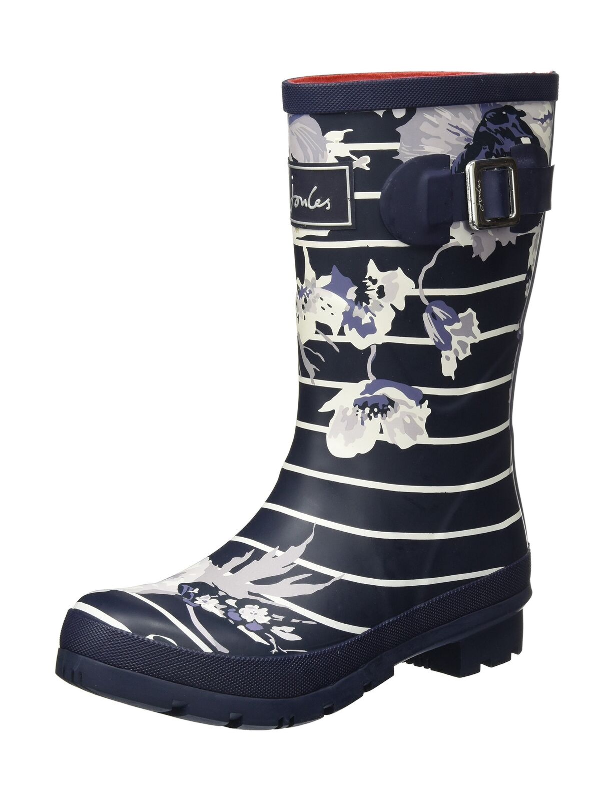 Joules Damenschuhe Molly Welly Ankle Stiefel, French Marine Beau Bloom 3 UK