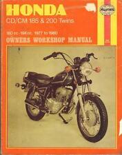 HONDA CD185,CD200,BENLY,CM185 T,CM200 T,HAYNES WORKSHOP MANUAL 1977-1980