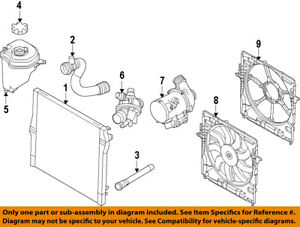 image is loading bmw-oem-07-10-x5-engine-coolant-thermostat-
