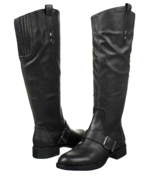 Sam Sam Sam Edelman Roman boot tall riding knee high black sz 6 Med NEW 2a9489