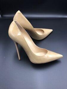 6585b3642 Jimmy Choo 'anouk' Nude Patent Court Heels Pumps Stiletto Shoes Size ...