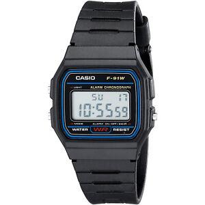 Reloj-de-Pulsera-Digital-Casio-Casio-F91W-Original-Retro-Unisex-Negro-Calidad
