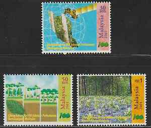 281-MALAYSIA-2001-100TH-ANNIVERSARY-OF-FORESTRY-DEPARTMENT-SET-FRESH-MNH
