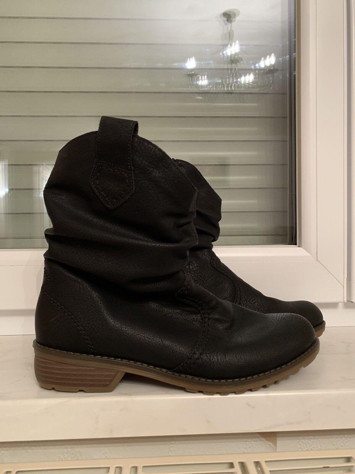 Rieker Stiefel Stiefeletten Boots Gefüttert Gefüttert Gefüttert Neu Black black Winter Gr 41 4068d3