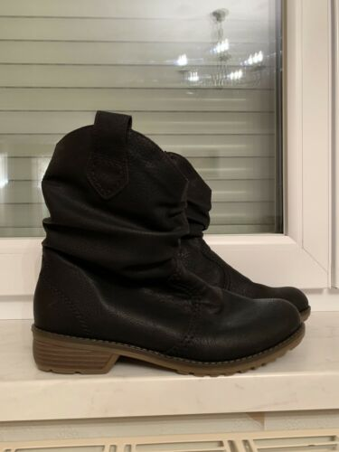 Boots Schwarz Rieker Gr Stiefel Stiefeletten Neu Black Gefüttert 41 Winter dorBxCeWQ