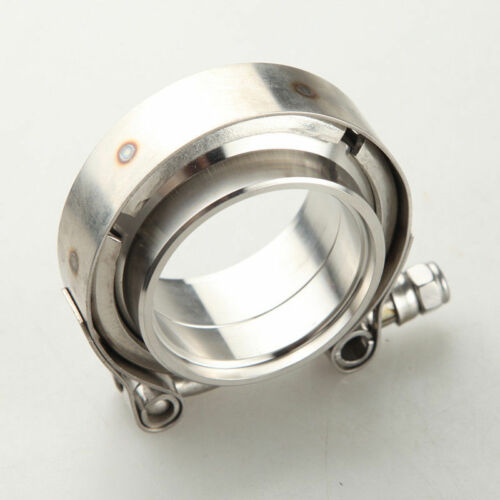 """1.75/"""" Self Aligning Male//Female V-Band Clamp CNC Stainless Steel Flange Kit"""