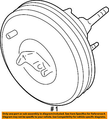FORD OEM-Power Brake Vacuum Booster DL3Z2005D