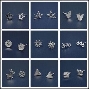Fashion-Womens-925-Silver-Earrings-Cute-Ear-stud-Jewelry-Gifts-Rabbit-Girl