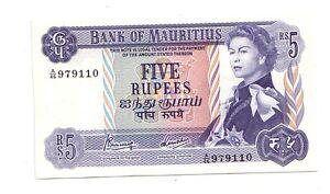 Mauritius-5-rupie-1967-FDS-UNC-pick-30c-lotto-2780