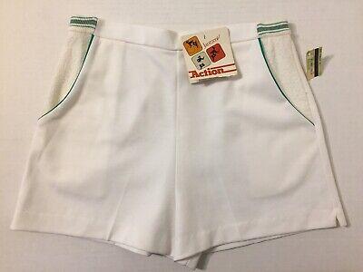 Vintage 70s Nuovo Jantzen Action Donna Tennis Pantaloncini Taglia 12 Bianco Con Il Miglior Servizio