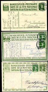 SCHWEIZ-1914-1918-PRO-JUVENTUTE-GANZSACHEN-D7249