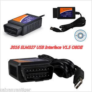 Details about ELM327USB V1 5 Interface OBD2 Auto Car Chip Scanner Adapter  Diagnostic Tool 2016