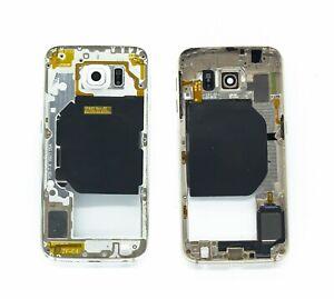 Chasis-intermedio-para-la-pantalla-para-Samsung-Galaxy-S6-BLACO-NUEVO