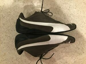 PUMA-Speed-Cat-Suede-Chocolate-Brown-White-Driving-Shoes-Size-6-Sneakers