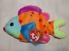 Ty Beanie Baby Lips - Fish - Mint w/ Tags - 2 Errors