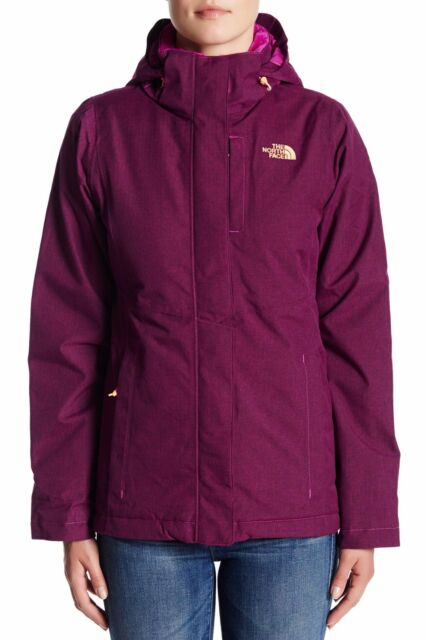edf04a677a77 NWT WOMENS THE NORTH FACE INLUX INSULATED WATERPROOF FLEECE PLUM HOODED  JACKET