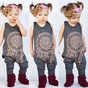 b6304e868529 Image is loading NEW-Toddler-Kids-Baby-Girls-Romper-Jumpsuit-Bodysuit-