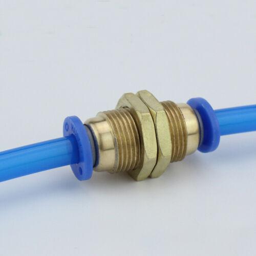 Pneumatik Schott Verschraubung Verbinder Stecker  für 4~12mm Schlauch Gerade