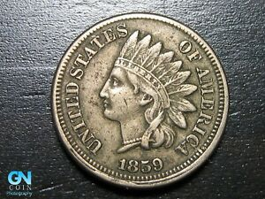 1859-Indian-Head-Cent-Penny-MAKE-US-AN-OFFER-B2490