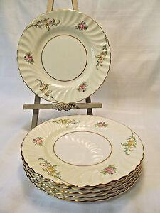 Minton England Fine Bone China BROMLEY Six (6) Dessert Plates ...