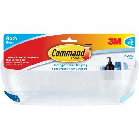 1 Caddy Command Shower Caddy 4 Large  W 4 Mounting Bases