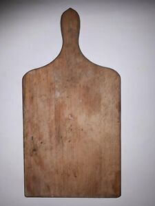 OLD-ANTIQUE-PRIMITIVE-WOODEN-WOOD-BREAD-CUTTING-BOARD-PLATE-1