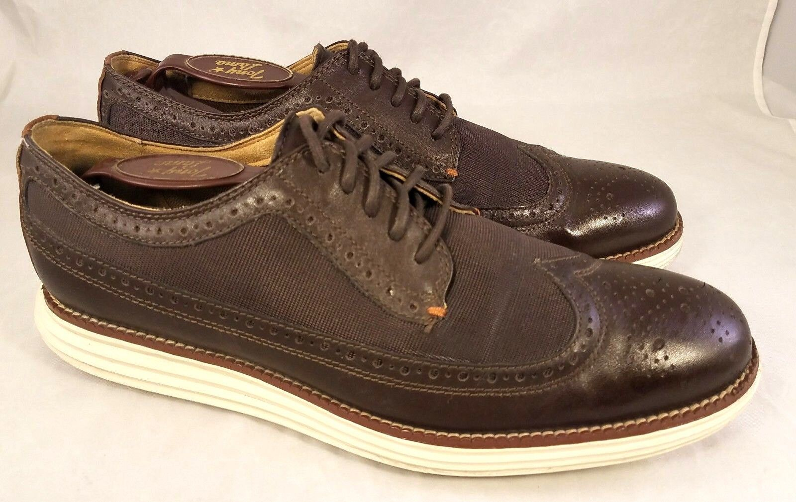 SIZE US 8 1 2 MAN COLE HAAN GRAND OS grand OS SHOES WINGTIP OXFORDS BROWN