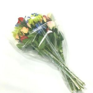 Details About 40 Flower Bouquet Cellophane Sleeves Clear Flower Bouquet Sleeve